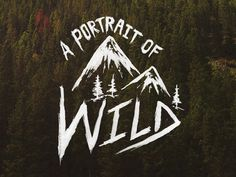 A Portrait of Wild #lettering #typography