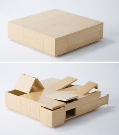 MAKE | Plywood Table is All Secret Compartment #furniture #tables