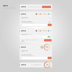 Put.io White Concept by Sencer Bugrahan #dash
