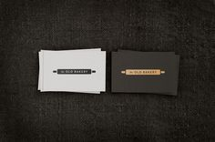The Old Bakery / Matthew Hancock #emboss #old #bakery #business #card #design #graphic #brand #building #identity #gold