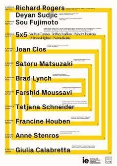 Get Lectured: IE School of Architecture and Design, 2017-18