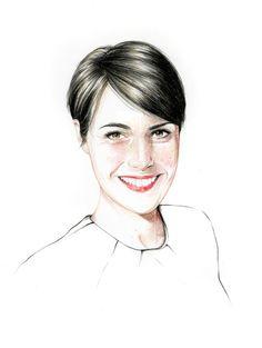 Beautiful Portraits Illustrations for GQ France Magazine #inspiration #draw #paintings #hand #magazine