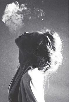 nonclickableitem #girl #bw #smoking