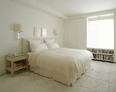 White bedroom #bed