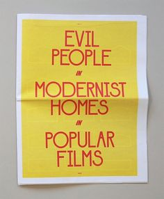 Miss Moss : Page 29 #house #films #print #popular #home #people #film #modernist #evil