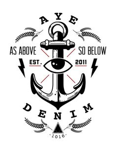 anchor #tshirt #prontopixel #eye #ayedenim #logo #anchor