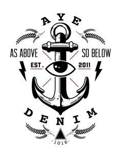 anchor #tshirt #prontopixel #eye #ayedenim #logo #anchor