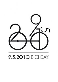 09.05.2010 BICI DAY | Flickr – Condivisione di foto! #white #black #illustration #number #poster #type