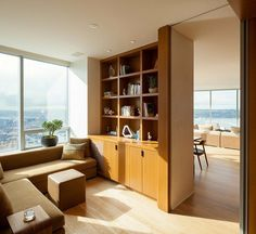 High-Rise Apartment with Floor-to-Ceiling Windows Overlooking Downtown Seattle 10