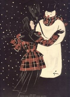 Rene Gruau #rene #gruau #illustration #fashion #winter