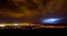 Lightning Crashes_2 #clouds #city #landscape #night #rain #storm #lightning #summer