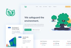 Leaf - Non Profit Eco Bootstrap 4 Template 🍃