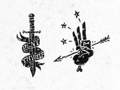 Deny Thyself by Nathan Yoder #typography #drawn #hand #illustration