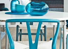 Coalesse   Live/Work   CH24 Wishbone Chair #ch24 #wishbone #hans #chair #1950 #denmark #blue #wegner