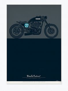 The Bald Terrier V-Twin - Posters #illustration
