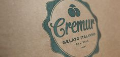 Cremur Logo by Curve Studio #logos #cream #icecream #design #graphic #identity #barcelona #logo #ice