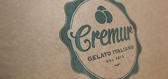 Cremur Logo by Curve Studio #logos #cream #icecream #design #graphic #identity #barcelona #logo #ice