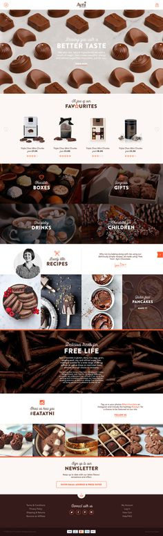 Concept homepage design for Ayni Chocolate #website #homepage #webdesign