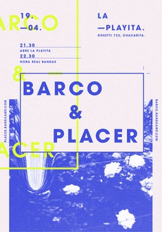 Blue & Yellow BARCO + PLACER Event Poster Example