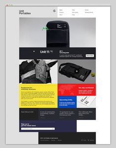 Unit Portables / Refined #website #layout #design #web