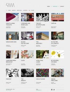 The website design showcase of 5AM. #grid #webdesign #grey #portfolio