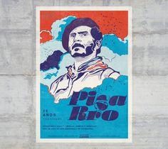 Carlos Pizarro, colombian guerrilla leader 1951 / 1990. #graphicdesign #latinamericandesign #poster #afiche #colombia #type
