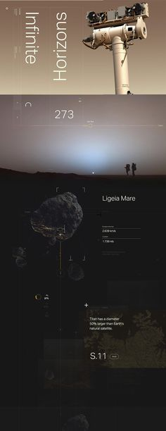 Titan Loop Campaign on Behance #planets #space #typography