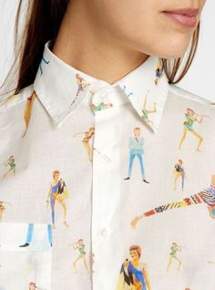 beatpie: G. Kero - Bowie Shirt #pattern #shirt #fashion #david #bowie