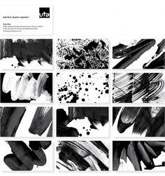 Brush and Splatter Talent - Brand New #direction #logotype #identity #art