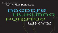 Type | Alyssa George Design #font #electro #techno #design #uppercase #typeface #typography