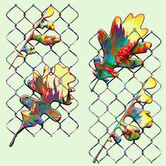 Vasya Kolotusha #oak #pattern #acid #textile #mesh
