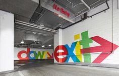 QV Carpark #carpark #avant #color #bold #wayfinding #winning #award #garde #colour