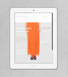 Whistles on Behance #ipad