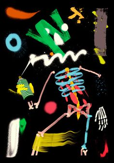 Illustrations by Santtu Mustonen — AGENT PEKKA #form #skeleton #color