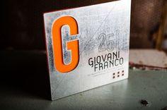 "\""urban metal\"" steel & acrylic invitation by twig & fig  #invitations #branding #design"