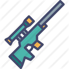 See more icon inspiration related to sniper rifle, fortnite, rifle, miscellaneous, gaming, weapons and weapon on Flaticon.