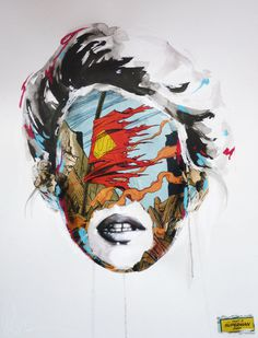 Artist, illustrator and painter, Sandra Chevrier, creates her work with a powerful message of social freedom and an open mind imbued into th