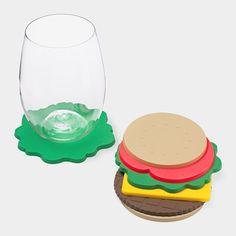 Burger Coasters | MoMA Store #coasters #moma #burger #mimi lee #peco nara