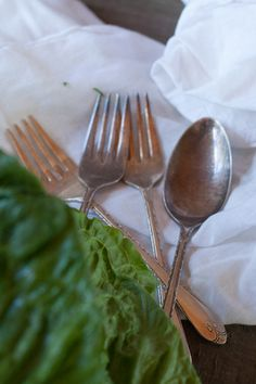 Salad with Utensils #photography #antique #food