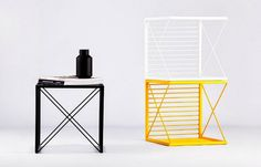 This multifunctional box pulls double- and triple-duty in conforming to whatever use you have for it in under a minute, while keeping a mini #modern #design #home #product #furniture #industrial #style