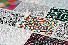 Business Cards by William Branton, via Behance #business card #patterns