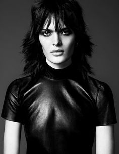 Sam Rollinson by Erik Torstensson for Vogue Russia #model #girl #photography #portrait #leather #fashion