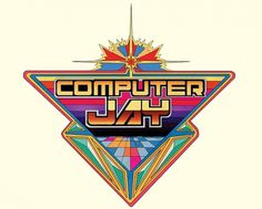 Computer Jay Logo – Kilian Eng – Illustrators & Artists Agents – Début Art #bright #killian #illustration #80s #eng #logo #colour #typography
