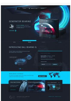 Bearing SL on Behance #design #web