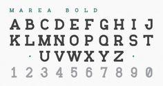 Marea: A Marine Typography « daniel cbs #type #slab serif #danielcbs #marea