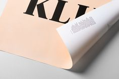 Klim - A specimen poster for Financier Display