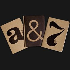 Ugmonk — MINI-SKETCHBOOKS (SET OF 3) #pad #book #sketch #typography
