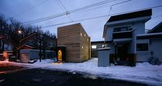 RectangleOfLight00.jpg 900×479 pixels #snow #home #wood #architecture #street #light
