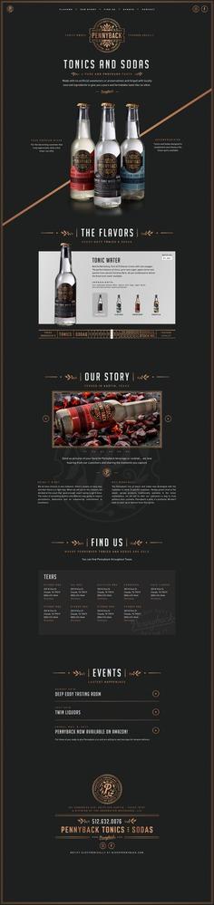 Pennyback Tonics and Sodas Website