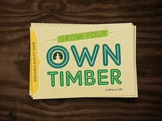 30 Amazing Retro Posters and Flyers | Abduzeedo | Graphic Design Inspiration and Photoshop Tutorials #timber #cards #business #green